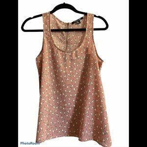 Forever 21 Bird and Mini Polka Dot Print Tank